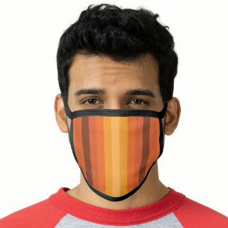 Optical Illusion Orange Face Mask