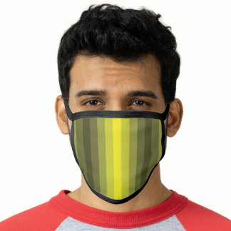 Optical Illusion Yellow Face Mask
