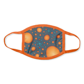 Orange and Blue Abstract Pattern. Face Mask