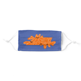 Orange bloom adult cloth face mask