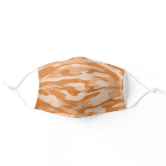 Orange Camo Adult Cloth Face Mask