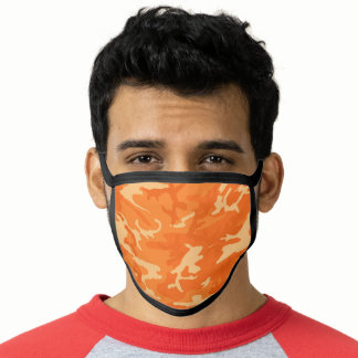 Orange Camo Camouflage Face Mask