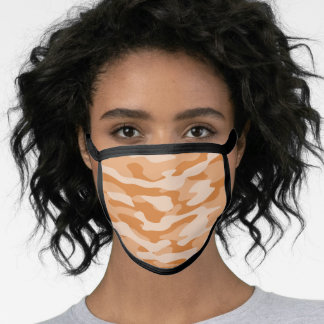Orange Camo Face Mask