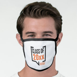 Orange Class Year Speech Bubble Face Mask