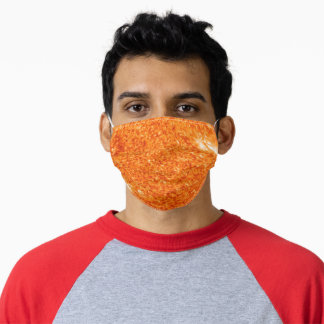 Orange Fires of the Sun Poster Adult Cloth Face Mask
