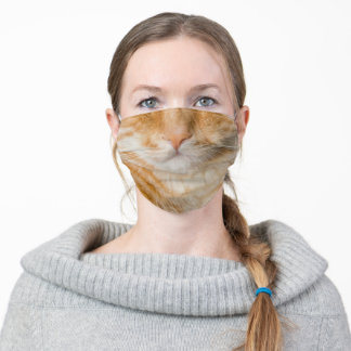 Orange Kitty Adult Cloth Face Mask
