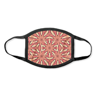 Orange Yellow Abstract Geometric Kaleidoscope Face Mask
