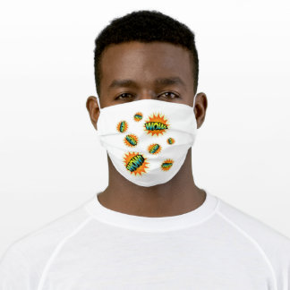 Orange Yellow WOW! Adult Cloth Face Mask