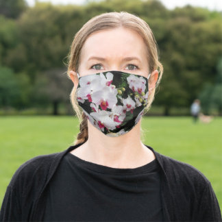 Orchid Print Adult Face Mask