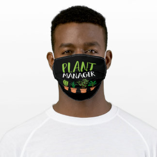 Organic Plant Manager Plant Lover  Fun Pun Adult Cloth Face Mask