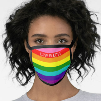 Original 8 Stripes LGBT Rainbow Colors Add Text Face Mask