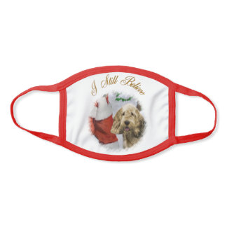 Otterhound Christmas Face Mask