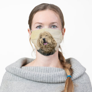 Otterhound Painting - Cute Original Dog Art Adult Cloth Face Mask