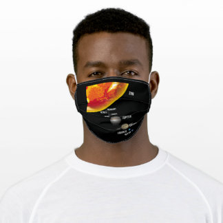 Our Solar System Planets Size Ratio Adult Cloth Face Mask