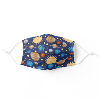 Outer Space Planets Solar System for Kids Adult Cloth Face Mask
