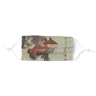 Owl on Pine by Ichiryusai Hiroshige Adult Cloth Face Mask