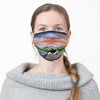 Pacific Northwest Killer Whale Adult Cloth Face Mask