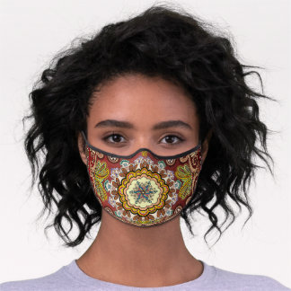 Paisley Red Premium Face Mask