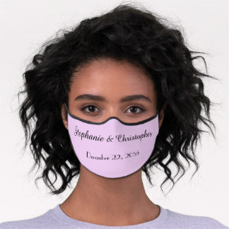 Pale Purple Premium Cloth Wedding or Bridal Shower Premium Face Mask