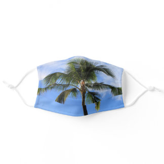 Palm Tree and Blue Sky Tropical Adult Cloth Face Mask