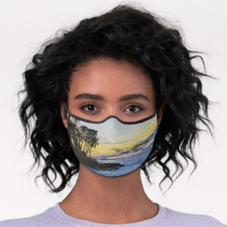 Palm Trees on the Peninsula Face Mask