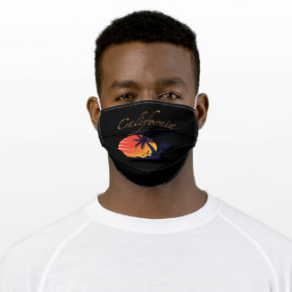 Palm Trees Sunset California Adult Cloth Face Mask