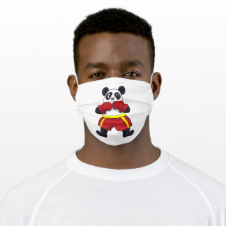 Panda as Boxer with Boxing gloves Adult Cloth Face Mask