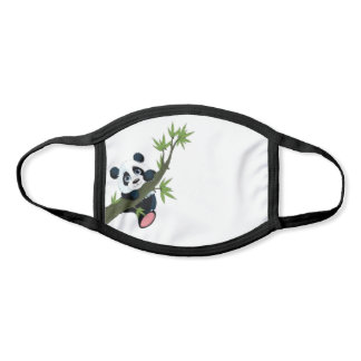 Panda Hanging On Face Mask