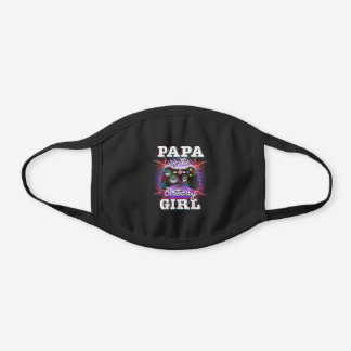 Papa Of The Birthday Girl Matching Video Game B Black Cotton Face Mask