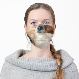Papillon Dog Animal Face Photo Adult Cloth Face Mask