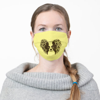 Papillon Face with Vendredi Filter Adult Cloth Face Mask