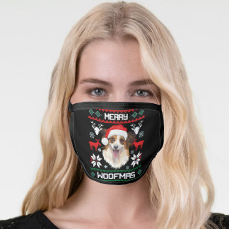 Papillon Merry Woofmas Christmas Face Mask