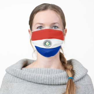 Paraguay & Flag Mask - fashion/sports fans
