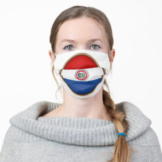Paraguayan Flag SEal Adult Cloth Face Mask