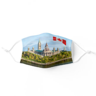 Parliament Hill in Ottawa - Ontario, Canada Adult Cloth Face Mask
