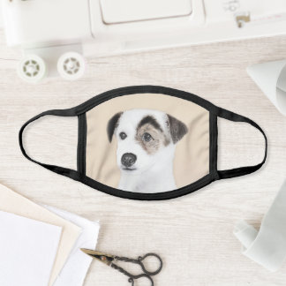 Parson Jack Russell Terrier Painting - Dog Art Face Mask