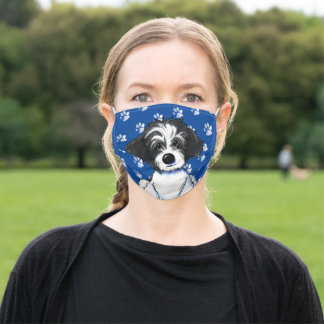 Parti Havanese Cloth Face Mask with Filter Slot