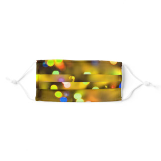 Party Time Gold Colorful Lights Adult Cloth Face Mask