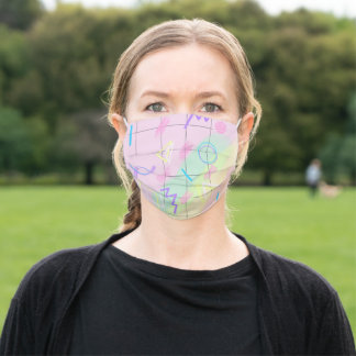 Pastel Abstract Geometric Pattern Cloth Face Mask