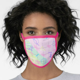 Pastel Abstract Geometric Pattern Face Mask