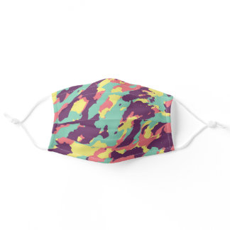 Pastel Camouflage Pattern Cute Cool Camo Lovers Adult Cloth Face Mask