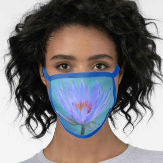 Pastel Morning Water Lily All Over Print Face Mask