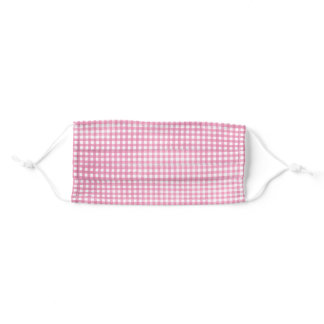 pastel pink gingham adult cloth face mask