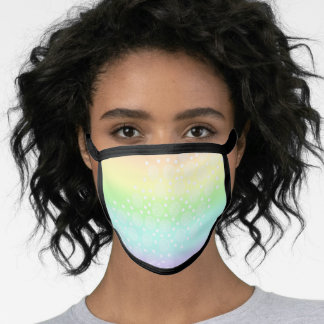 Pastel Rainbow Circles in Circles Face Mask