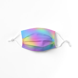 Pastel Rainbow Colors Abstract Blur Gradient Ombre Kids' Cloth Face Mask