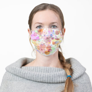 Pastel Rainbow Prism Bubbles Abstract Art Adult Cloth Face Mask