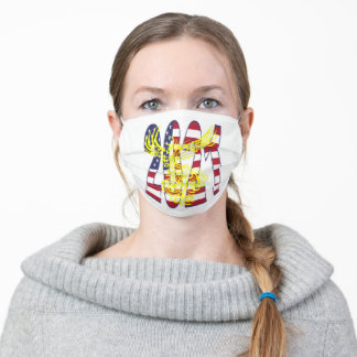Patriotic 2021 With Ascending Phoenix Adult Cloth Face Mask