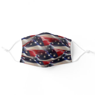 Patriotic Abstract American Flag Collage Adult Cloth Face Mask