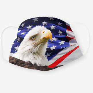 Patriotic American Flag Bald Eagle 4th of July Cloth Face Mask