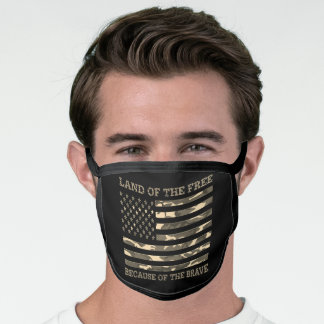 Patriotic American Flag Land Of The Free Face Mask